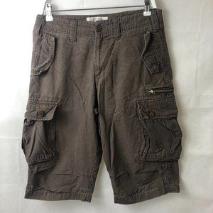 Just Jeans Sz 32 Brown Cargo Shorts - Smart -